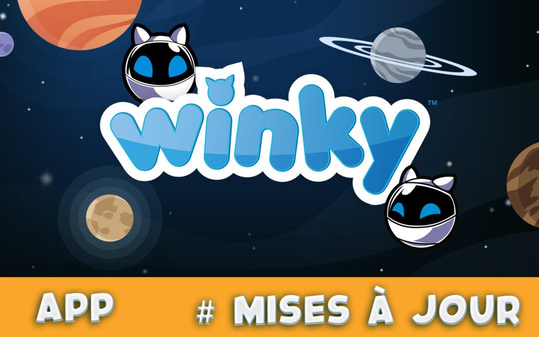 Mise à jour : Version 0.4 de la WinkyApp